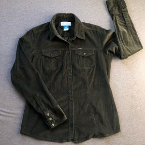 Olive Green Columbia Button Up